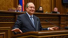 Армянский политический и государственный деятель, дипломат Армен Саркисян. Архивное фото