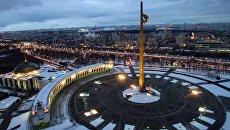 Центральный музей Великой Отечественной войны и мемориальный комплекс Парк Победы на Поклонной горе в Москве.