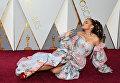 Певица Андра Дей  перед церемонией вручения премии Оскар-2018