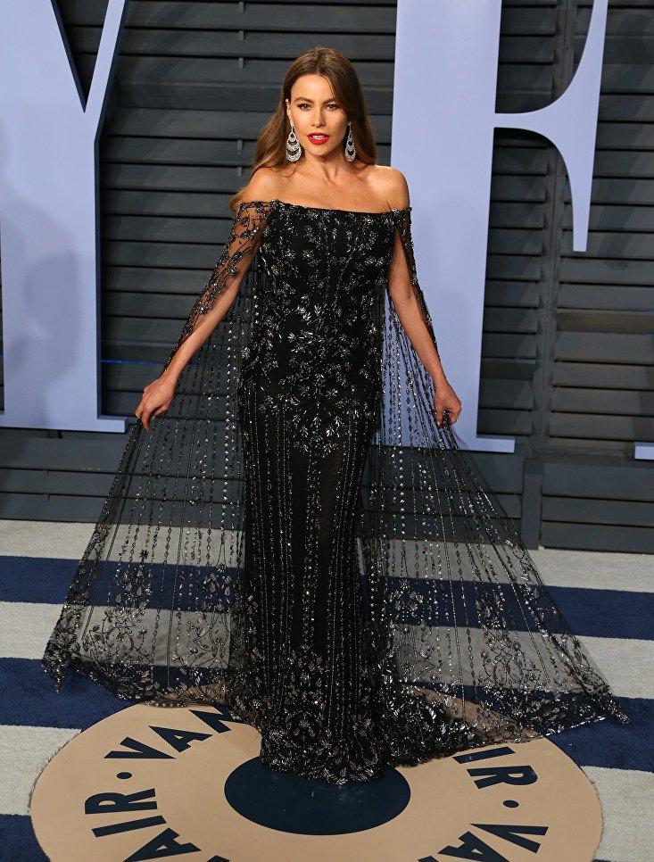 Колумбийская актриса София Вергара на Vanity Fair Oscar Party. 4 марта 2018 года