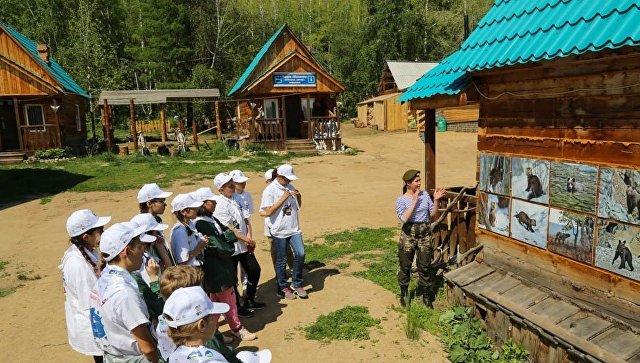 Стефания Сошенко проводит заповедный урок