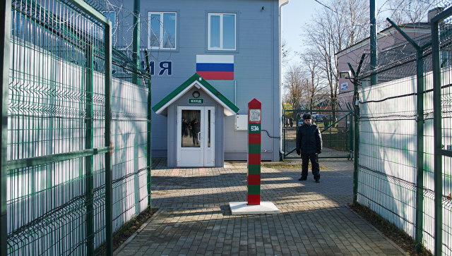 Пешеходный КПП Нарва-2. Архивное фото