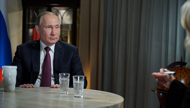 Владимир Путин дает интервью журналисту американского телеканала NBC Мегин Келли в Калининграде. 2 марта 2018