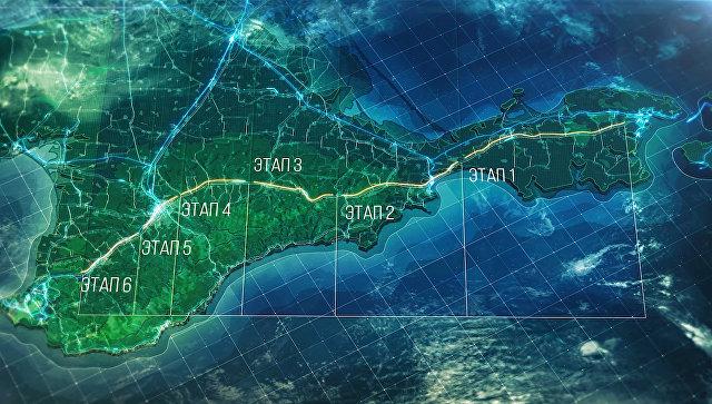 Государственная  дорога  «Таврида» вКрыму построена на30%