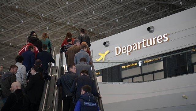 В терминале аэропорта в Симферополе. Архивное фото