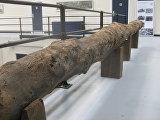Деревянная водопроводная труба