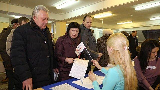 Голосование на избирательном участке на Камчатке
