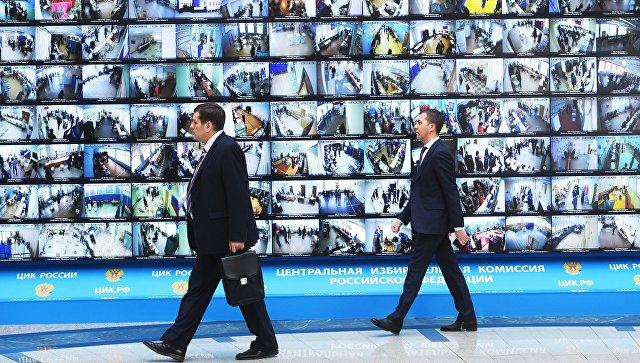 Трансляция голосования избирателей на выборах президента РФ