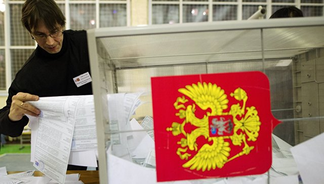 Подсчет голосов на выборах президента РФ в Новосибирске