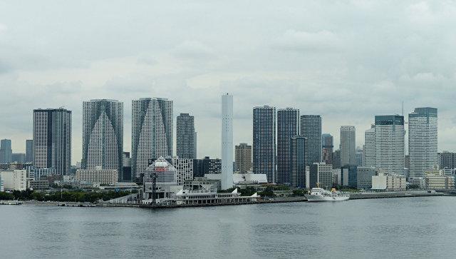 Небоскребы на берегу района Тюо в Токио. Архивное фото