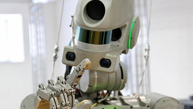 Робот Федор. Архивное фото