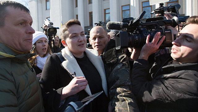 Шевченковский суд получил ходатайство обаресте Савченко, под зданием усилены меры безопасности