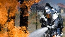 Пожарные США в Калифорнии. Архивное фото