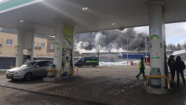 ВМытищах загорелись склады наплощади 1,2 тыс. кв. м