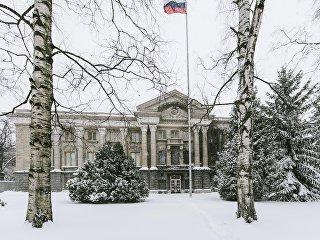 Здание посольства РФ в Финляндии. Архивное фото