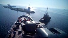 Учебный корабль Перекоп приступил к прохождению проливов Босфор и Дарданеллы. 2 апреля 2018