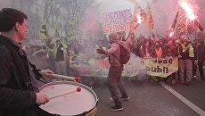Забастовка работников железных дорог в Париже. 3 апреля 2018