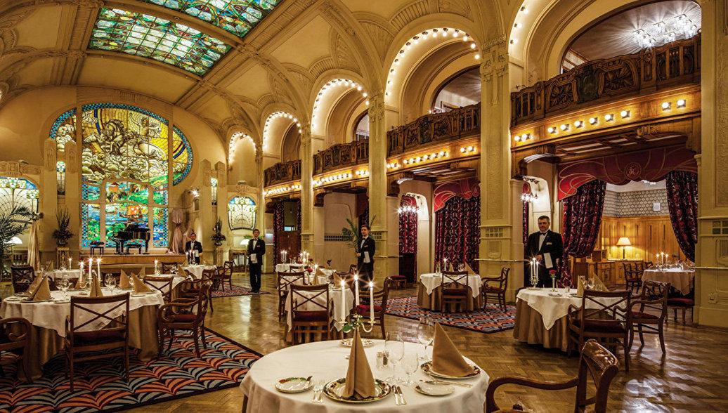 Ресторан отеля Гранд Отель Европа в Санкт-Петербурге
