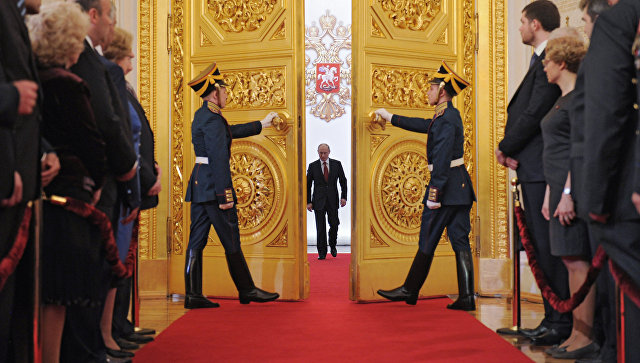 Церемония инаугурации избранного президента РФ Владимира Путина. Архивное фото