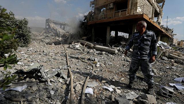 Разрушенный Научно-исследовательский центр в Дамаске, Сирия. 14 апреля 2018