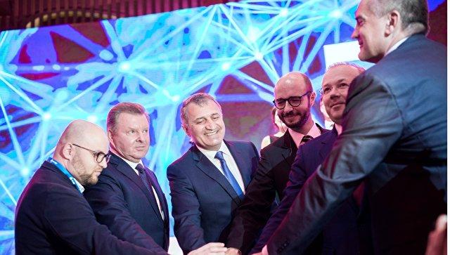 Участники Ялтинского международного экономического форума в Крыму. 19 апреля 2018