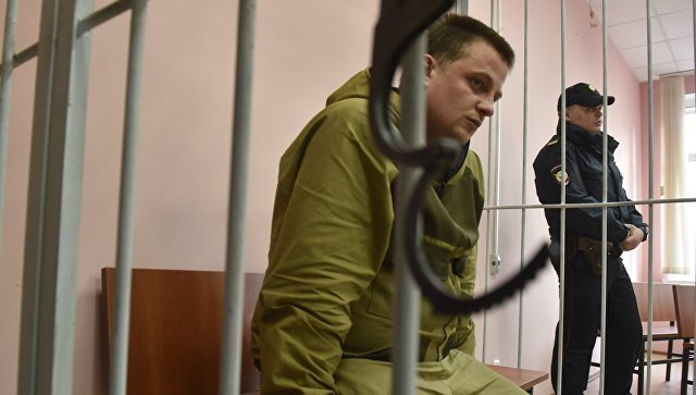 Избрание меры пресечения в виде заключения под стражу в отношении Владимира Аникина, обвиняемого в хищении сурдобарокамеры, в Хорошевском районном суде. 20 апреля 2018