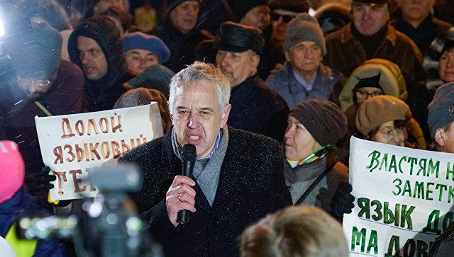 Лидер Штаба защиты русских школ Александр Гапоненко. Архивное фото