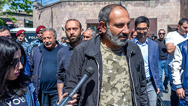 Лидер протестного движения Мой шаг Никол Пашинян. Архивное фото