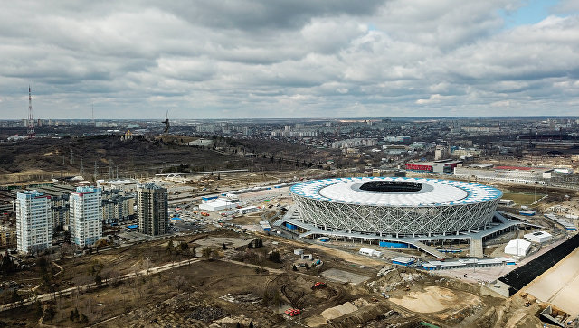 Вид на стадион Волгоград Арена. Архивное фото
