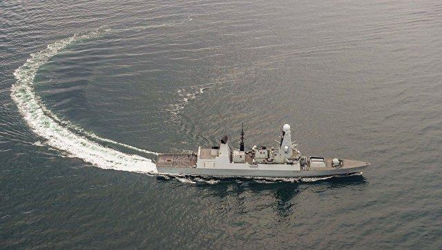 Ракетный эсминец HMS Duncan ВМС Великобритании в Черном море. Архивное фото
