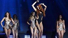 Участницы финала конкурса красоты Mrs&Ms Russia Earth 2018 в банкетном зале Мир