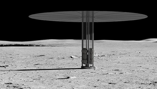 Компактный ядерный реактор Kilopower на поверхности Луны