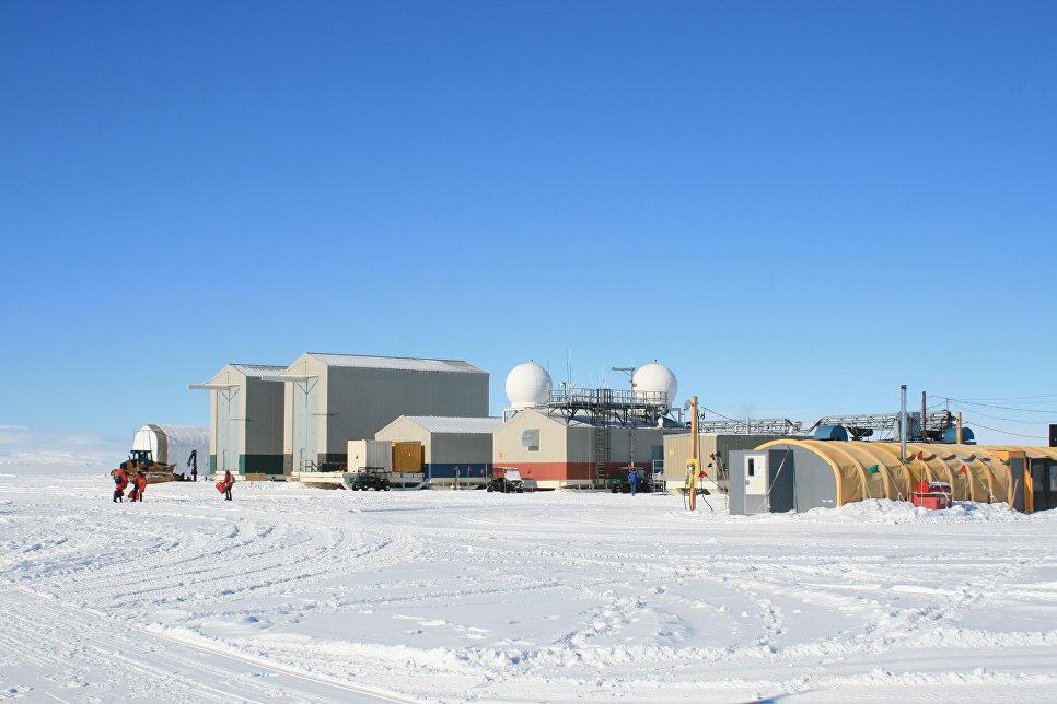 Вид на исследовательский лагерь