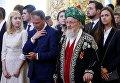 Председатель Центрального духовного управления мусульман России, Верховный муфтией Талгат Сафа Таджуддин перед началом церемонии инаугурации президента РФ Владимира Путина в Кремле. 7 мая 2018