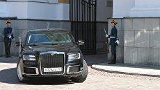 Автомобиль Aurus кортежа президента РФ. Архивное фото