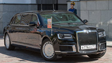 Автомобиль Aurus кортежа президента России. Архивное фото