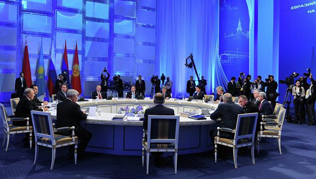 Заседание расширенного состава Высшего Евразийского экономического совета в Астане
