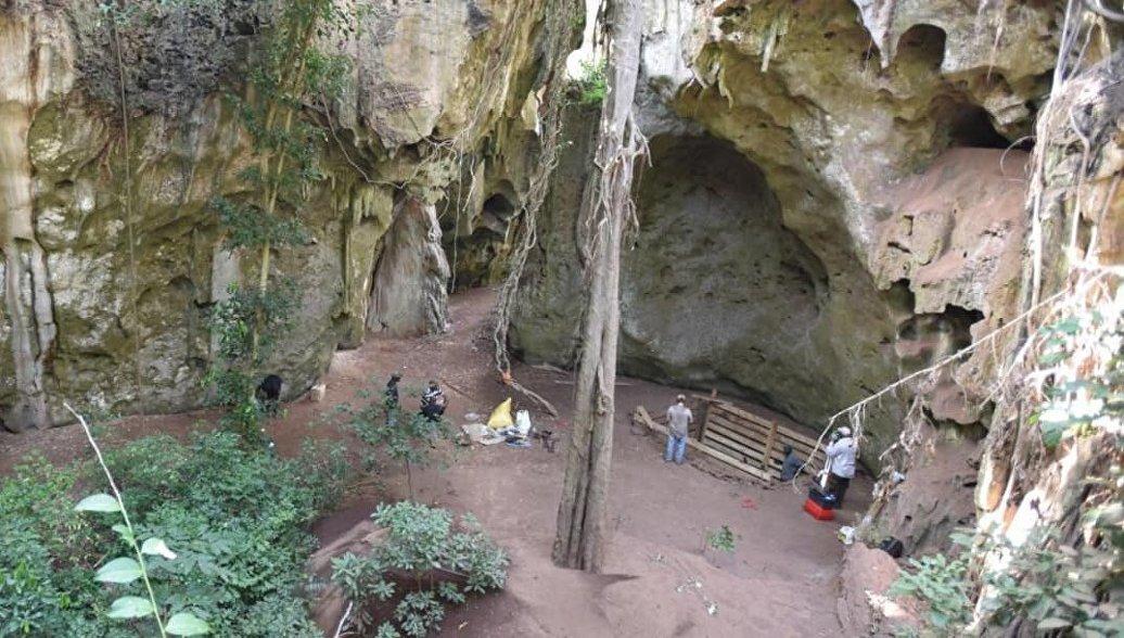 Археологические раскопки в пещере Панга-йа-Саиди, Кения