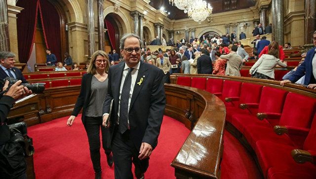 Ким Торра в парламенте Каталонии в Барселоне. Архивное фото
