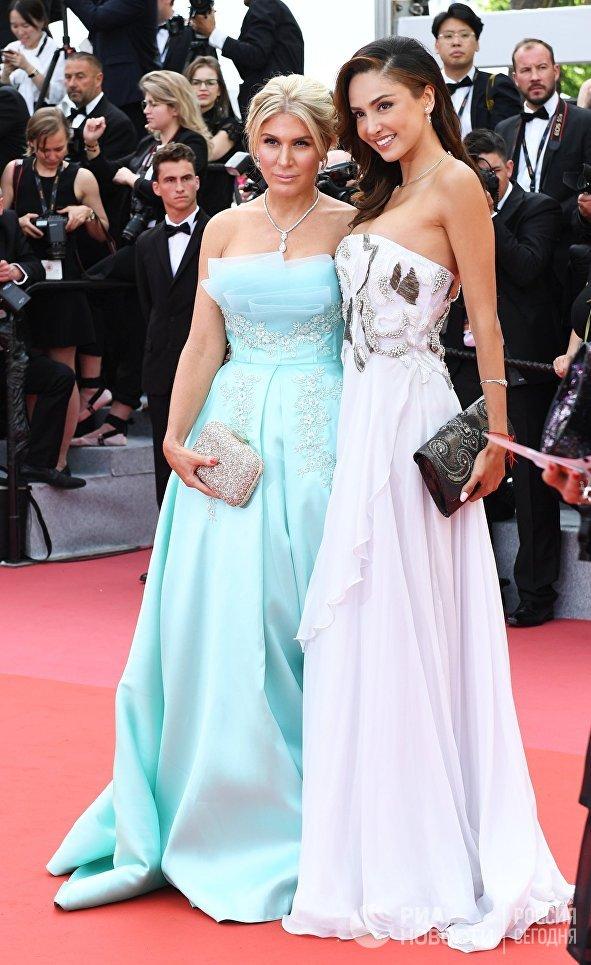 Телеведущая Хофит Голан и актриса Патришия Контрерас на красной дорожке церемонии открытия 71-го Каннского международного кинофестиваля