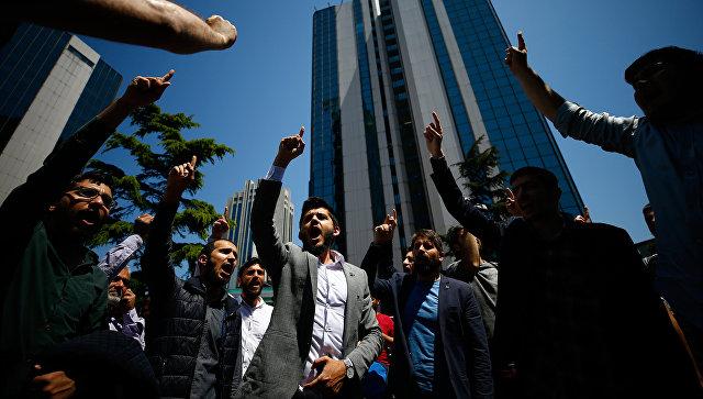 Акция протеста у израильского консульства в Стамбуле. Архивное фото