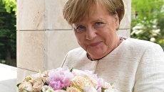 Федеральный канцлер ФРГ Ангела Меркель во время встречи с президентом РФ Владимиром Путиным в Сочи. 18 мая 2018