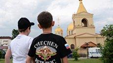 Церковь Архангела Михаила в центре Грозного, в которой четверо боевиков пытались захватить прихожан в качестве заложников