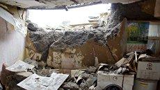 Последствия обстрела в Луганской области. Архивное фото