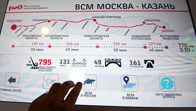 Открытие Информационного центра ВСМ Москва – Казань