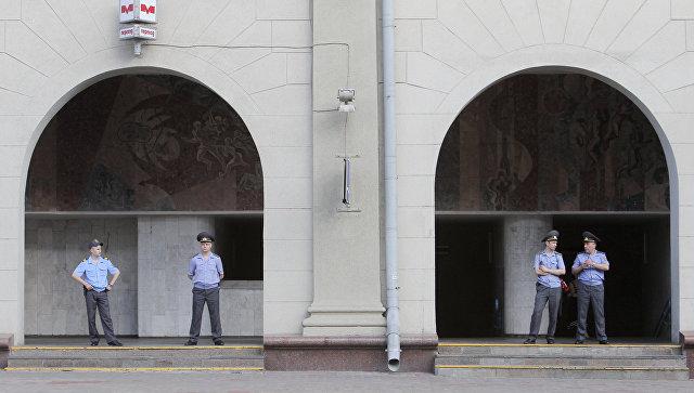 Сотрудники правоохранительных органов в Минске. Архивное фото