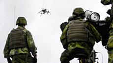 Шведские военные во время учений. Архивное фото