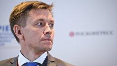 Министр цифрового развития, связи и массовых коммуникаций РФ Константин Носков на Петербургском международном экономическом форуме. 24 мая 2018
