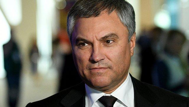 Председатель Госдумы Вячеслав Володин. Архивное фото
