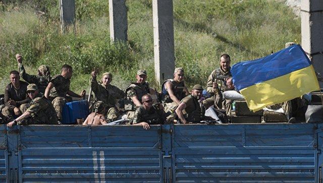 Украинские военные в Луганской области. Июнь 2018